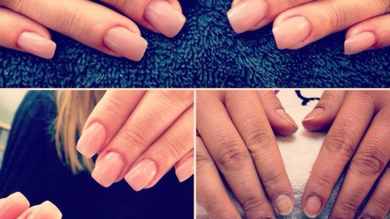 Εφαρμογή ακρυλικού σε ταλαιπωρημένα φαγωμένα κοντά & ασύμμετρα νύχια