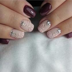 Νύχια με πέτρες και στρας Part 1