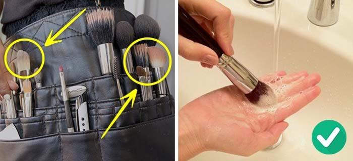 SOS: Καθαρίζετε συστηματικά τα πινέλα του μακιγιάζ
